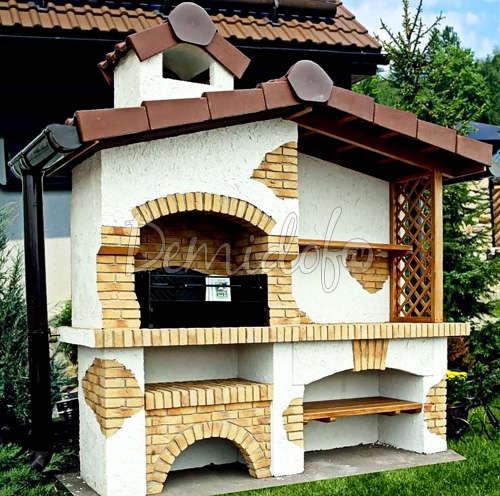 Печь-барбекю на даче фото
